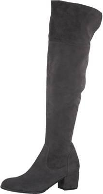 Stiefel Schuhe Damen Komfort Boots 1457 Schwarz 36
