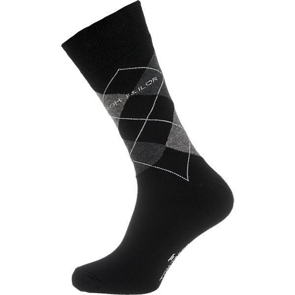 Paar 2 schwarz TAILOR TOM Socken EwaA7zq