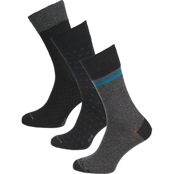 Groß Döbbern Angebote TOM TAILOR 3 Paar Socken schwarz Herren Gr. 43-46