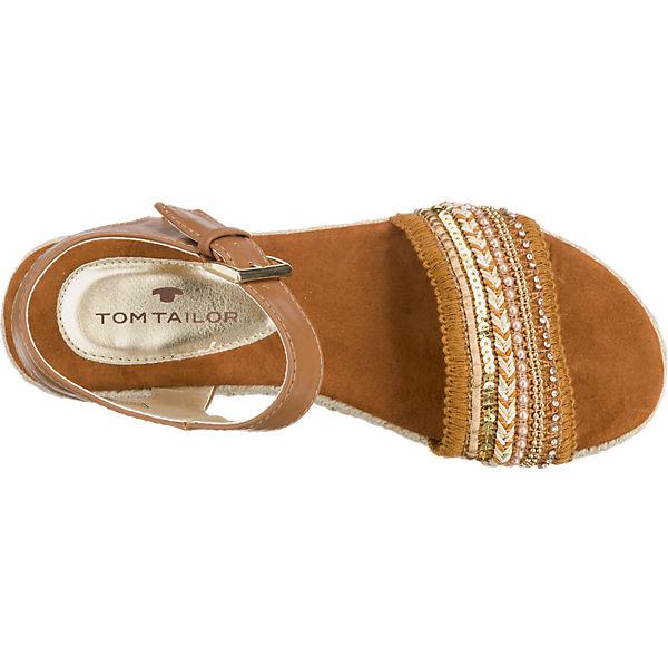 TOM TAILOR TOM TAILOR Sandaletten braun