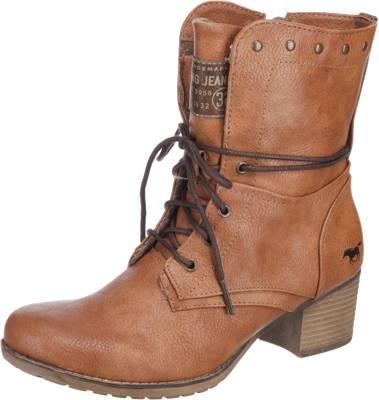 MUSTANG Stiefelette Schnürstiefeletten braun mirapodo Schuhe