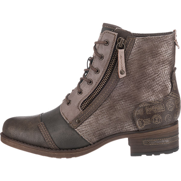 MUSTANG, MUSTANG Stiefeletten, beliebte braun-kombi  Gute Qualität beliebte Stiefeletten, Schuhe c7eb22