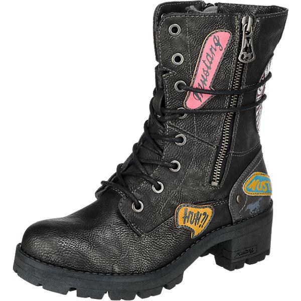 best website 17da4 274ed MUSTANG, Biker Boots, graphit