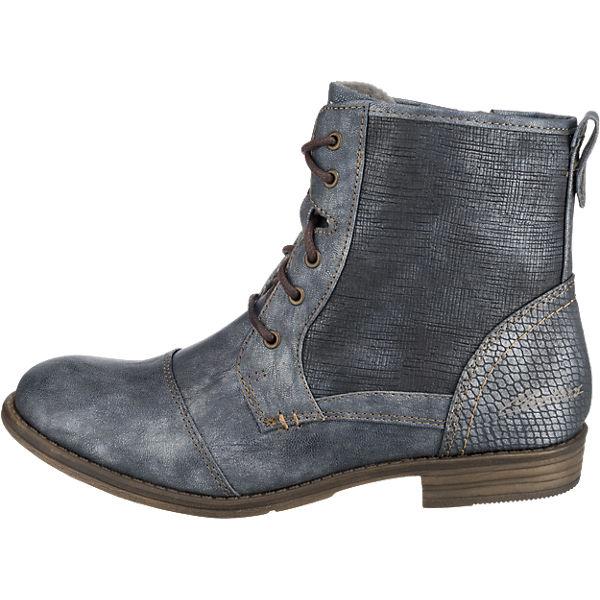 MUSTANG, MUSTANG Stiefeletten, dunkelblau  Gute Qualität beliebte Schuhe