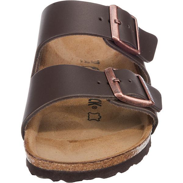 BIRKENSTOCK, BIRKENSTOCK Arizona Pantoletten Qualität schmal, dunkelbraun  Gute Qualität Pantoletten beliebte Schuhe e01df7
