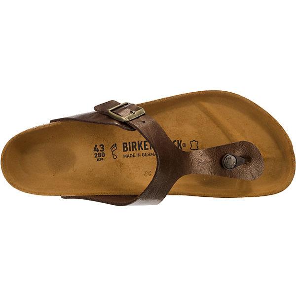 BIRKENSTOCK Gizeh weit Zehentrenner  braun  Zehentrenner Gute Qualität beliebte Schuhe 8a9e5e