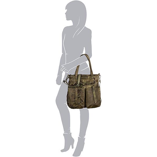 Taschendieb Handtasche dunkelgrün
