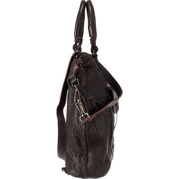 Taschendieb Handtasche dunkelbraun