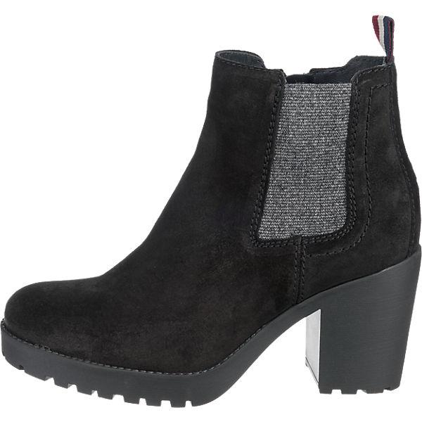 HILFIGER DENIM, HILFIGER DENIM Boo Qualität Stiefeletten, schwarz  Gute Qualität Boo beliebte Schuhe 9f2920