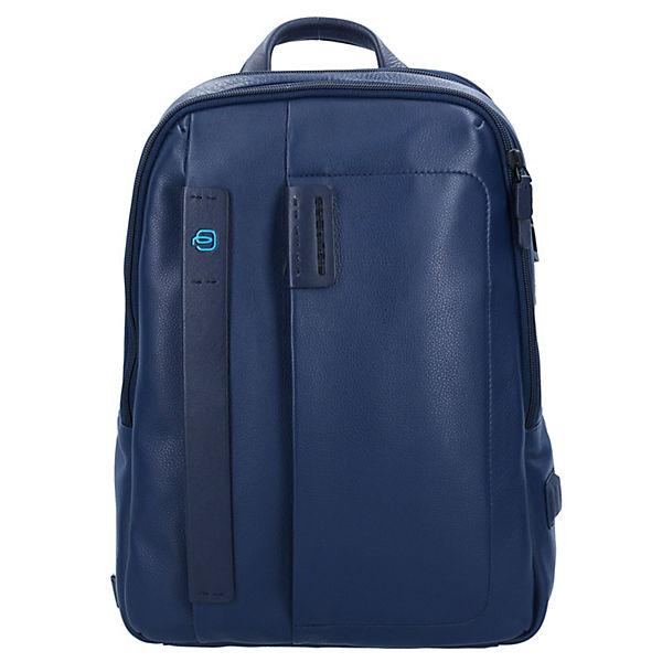 Piquadro Piquadro Pulse Rucksack Leder 40 cm Laptopfach dunkelblau