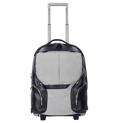 Piquadro Coleos 2-Rollen Trolley Rucksack 53 cm Laptopfach Business Trolleys