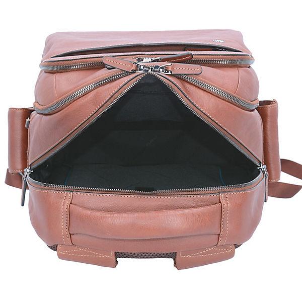 Piquadro Piquadro Black Square 3444 Rucksack Leder 43 cm Laptopfach braun