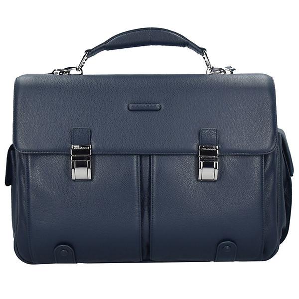 Piquadro Piquadro Modus Aktentasche Leder 43 cm Laptopfach blau