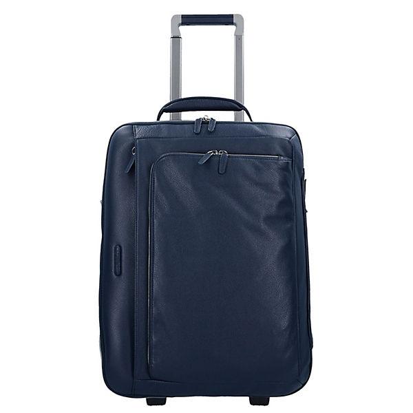 Piquadro Piquadro Modus 2-Rollen Business Trolley Leder 52 cm Laptopfach blau