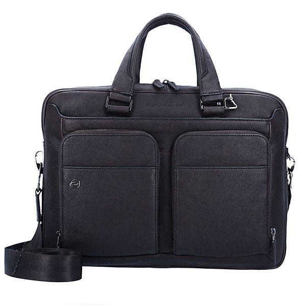 Piquadro Black Square Business Aktentasche 39 cm Laptopfach