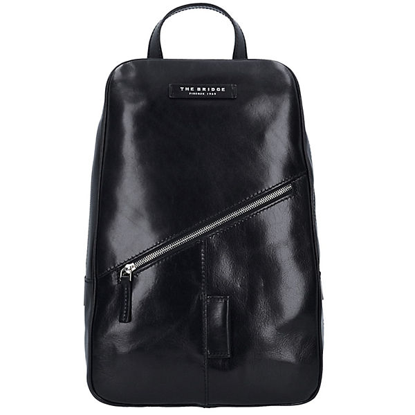 The Bridge The Bridge Passpartout Rucksack Leder 42 cm schwarz