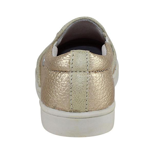 BRAQEEZ Halbschuhe aus Leder für Mädchen gold