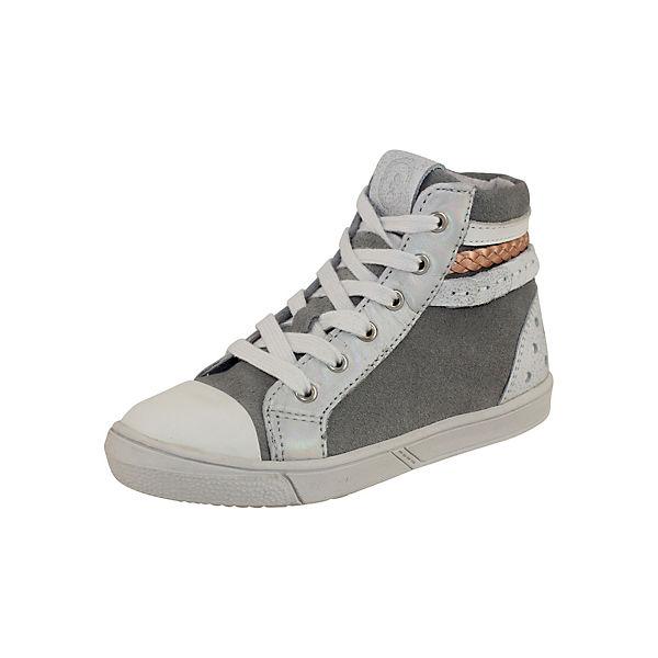 BRAQEEZ Sneakers aus Leder für Mädchen grau