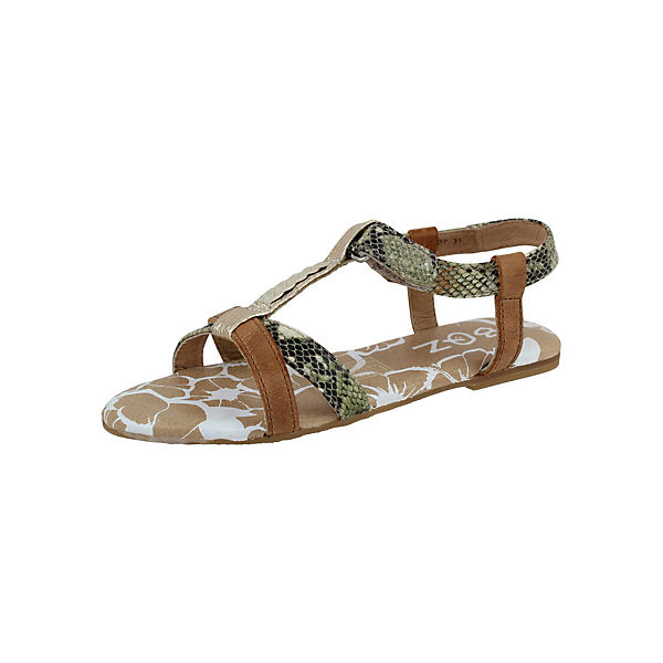 BRAQEEZ Sandalen für Mädchen braun-kombi Gr. 36 Sale Angebote Groß Döbbern