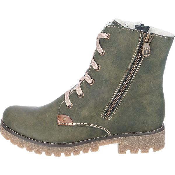 rieker, rieker Gute Stiefeletten, grün  Gute rieker Qualität beliebte Schuhe 6f6d9e