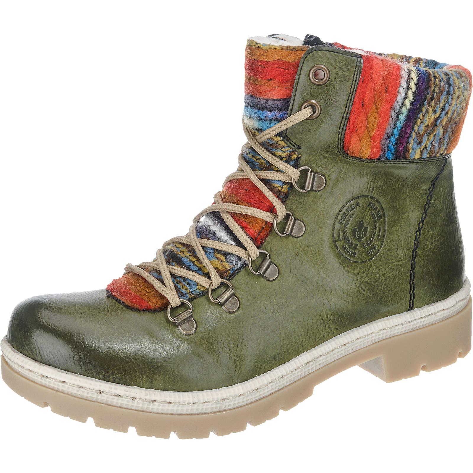 rieker stiefeletten gr n damen gr 39 outlet stiefel boots stiefeletten. Black Bedroom Furniture Sets. Home Design Ideas