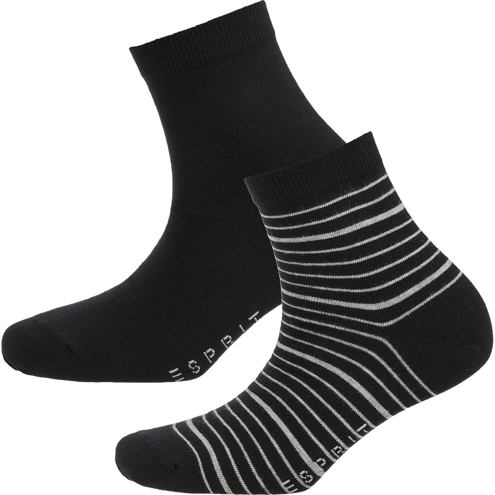 ESPRIT 2 Paar Socken schwarz Damen Gr. 35-38