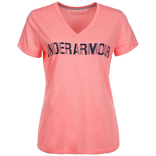 Under Armour Trainingsshirt HeatGear Threadborne Twist Graphic rosa