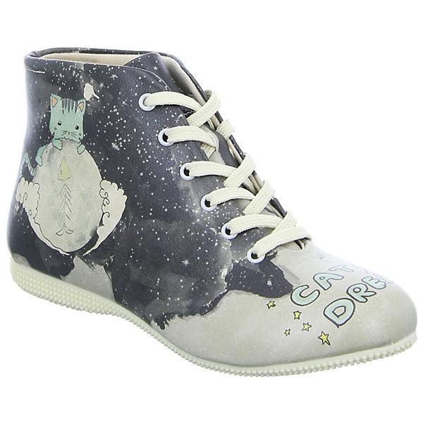 Dogo Shoes Dogo Shoes Stiefeletten Kaltfutter Cat Dreams schwarz