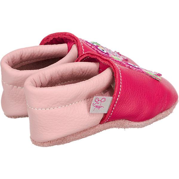 TROSTEL Krabbelschuhe für Mädchen, Eule pink