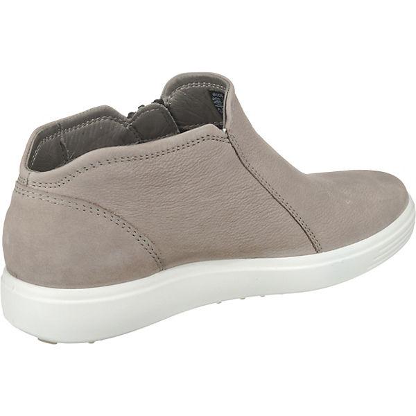 ecco ecco ecco Soft 7 Ladies Warm Grey/Powder Cha/Samba Slip-On-Sneaker grau  Gute Qualität beliebte Schuhe 9e0fe5