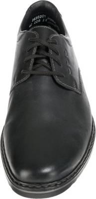 Rieker Textil Business Schnürer, schwarz Leder schwarz