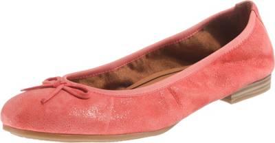 Tamaris Klassische Ballerinas, rot, koralle