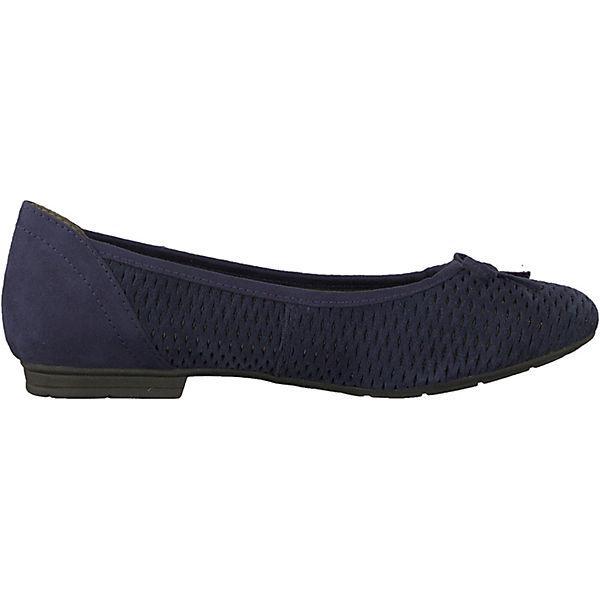 Jana Komfort-Ballerinas blau