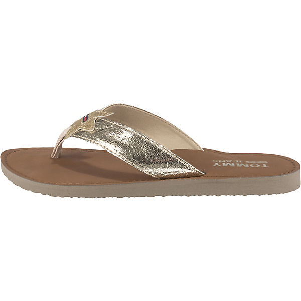 Sandal gold Glitter TOMMY JEANS Zehentrenner Beach q76cctWa