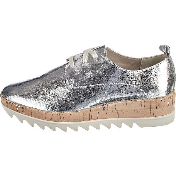TOMMY JEANS Metallic Platform Lace Up Shoe Klassische Halbschuhe silber