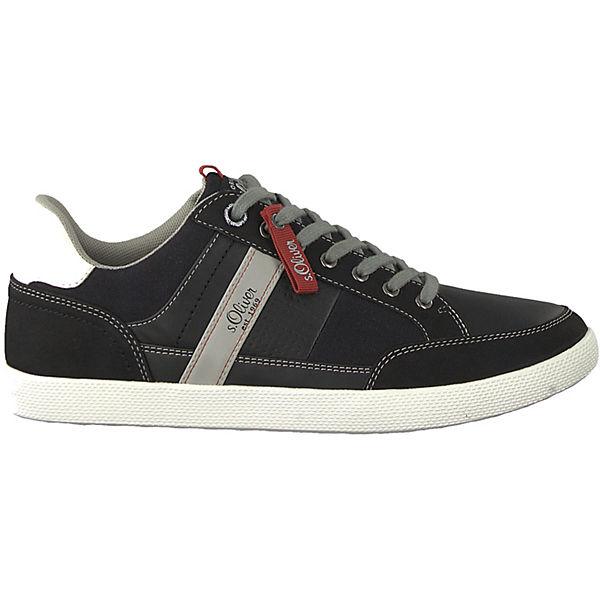 s.Oliver Sneakers Low schwarz-kombi