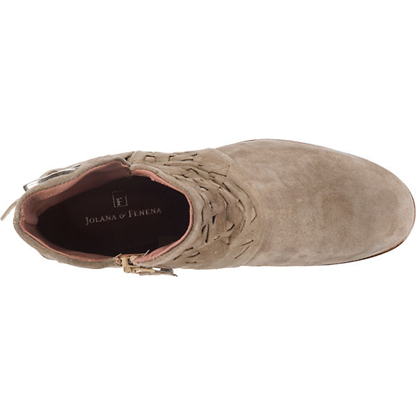 JOLANA & FENENA Ankle Boots beige