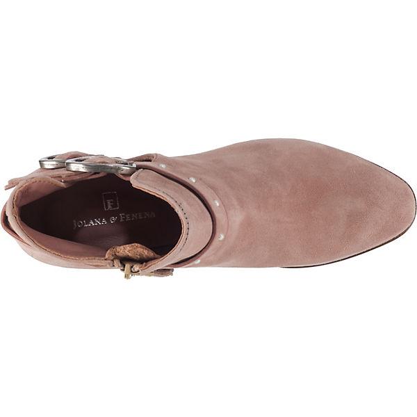 JOLANA & FENENA Qualität Ankle Boots rosa  Gute Qualität FENENA beliebte Schuhe 7a0b9e
