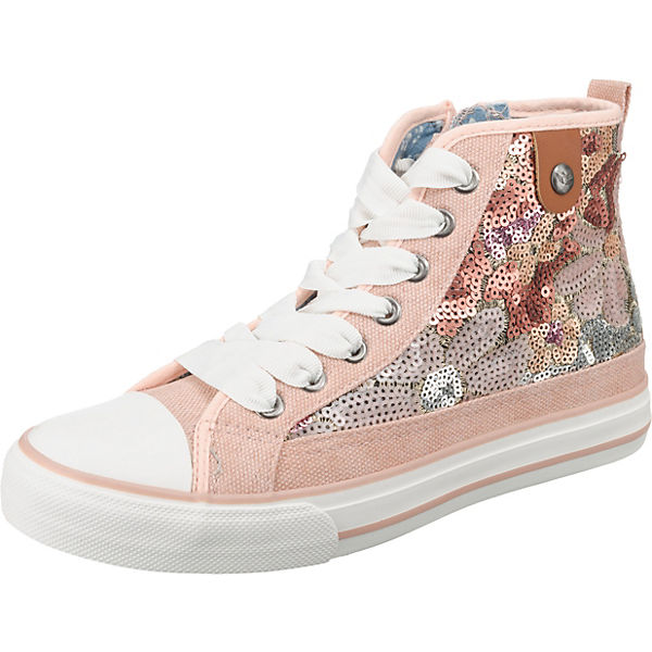 Hilda Toe Cap Sneaker Flower Sequin Sneakers High