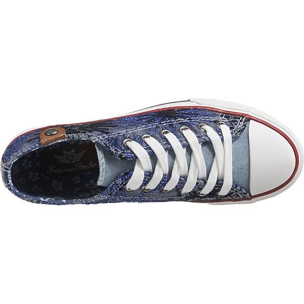 Sneakers Low Sparkles blau Fritzi Preußen aus kombi Cap Toe Hava Sneaker xF0waqB