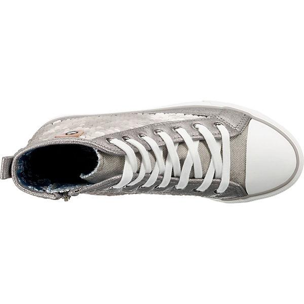 Fritzi silber Sequin Sneakers Hanna Cap Preußen Sneaker Toe High aus zrwzSqT
