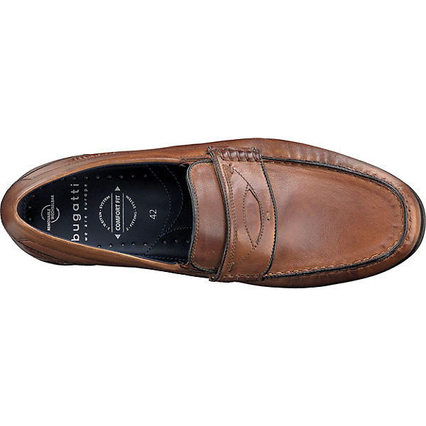 bugatti Business-Slipper cognac