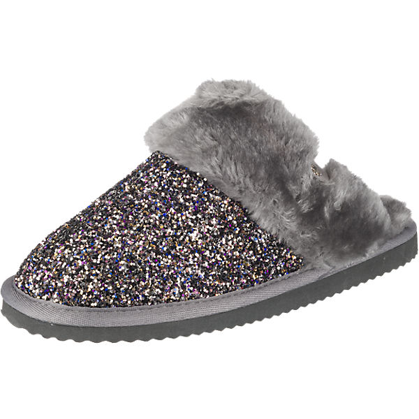 flip flop cuddle glitter hausschuhe grau kombi synthetik mirapodo. Black Bedroom Furniture Sets. Home Design Ideas
