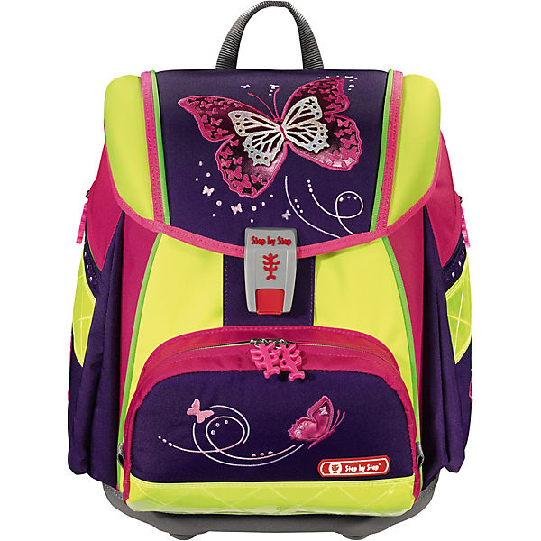 Schulranzenset TOUCH 2 DIN Shiny Butterfly, 4-tlg. - Kollektion 2018/2019
