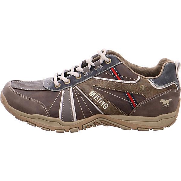 MUSTANG, Schnürschuhe, braun  Gute Qualität beliebte Schuhe