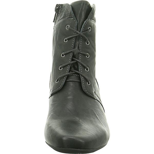 Think!, Schnürstiefeletten, anthrazit  Gute Qualität beliebte Schuhe