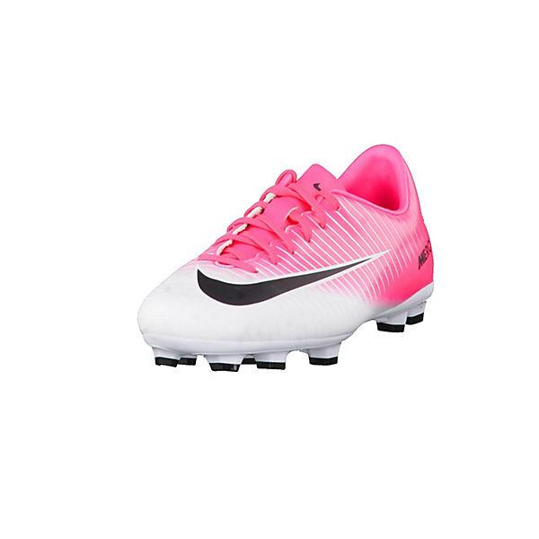 NIKE Kinder Fußballschuhe Mercurial Vapor XI pink/weiß