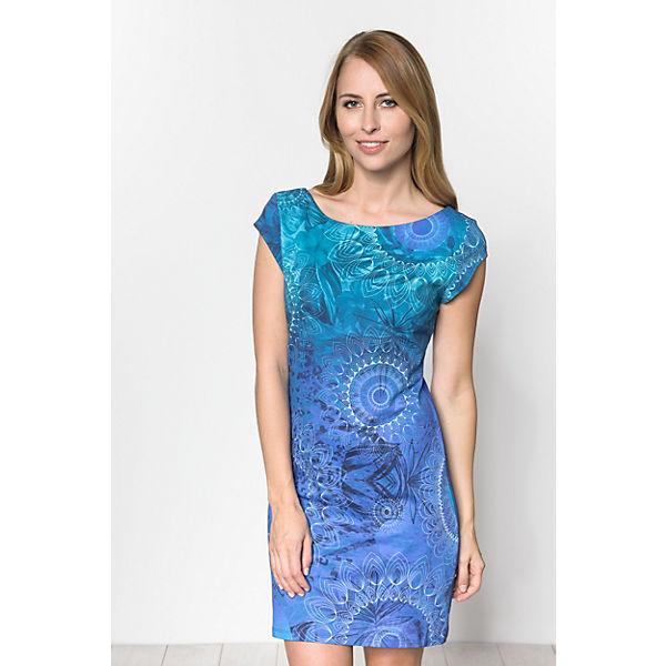 Desigual Jerseykleid Desigual Jerseykleid blau blau qZER7wx