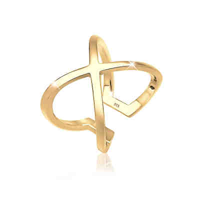 Elli Ring Kreuz Blogger Statement 925 Sterling Silber Ringe