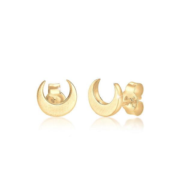 Elli, Ohrringe Halbmond Luna 925 Sterling Silber, gold   mirapodo 887dcff4a0